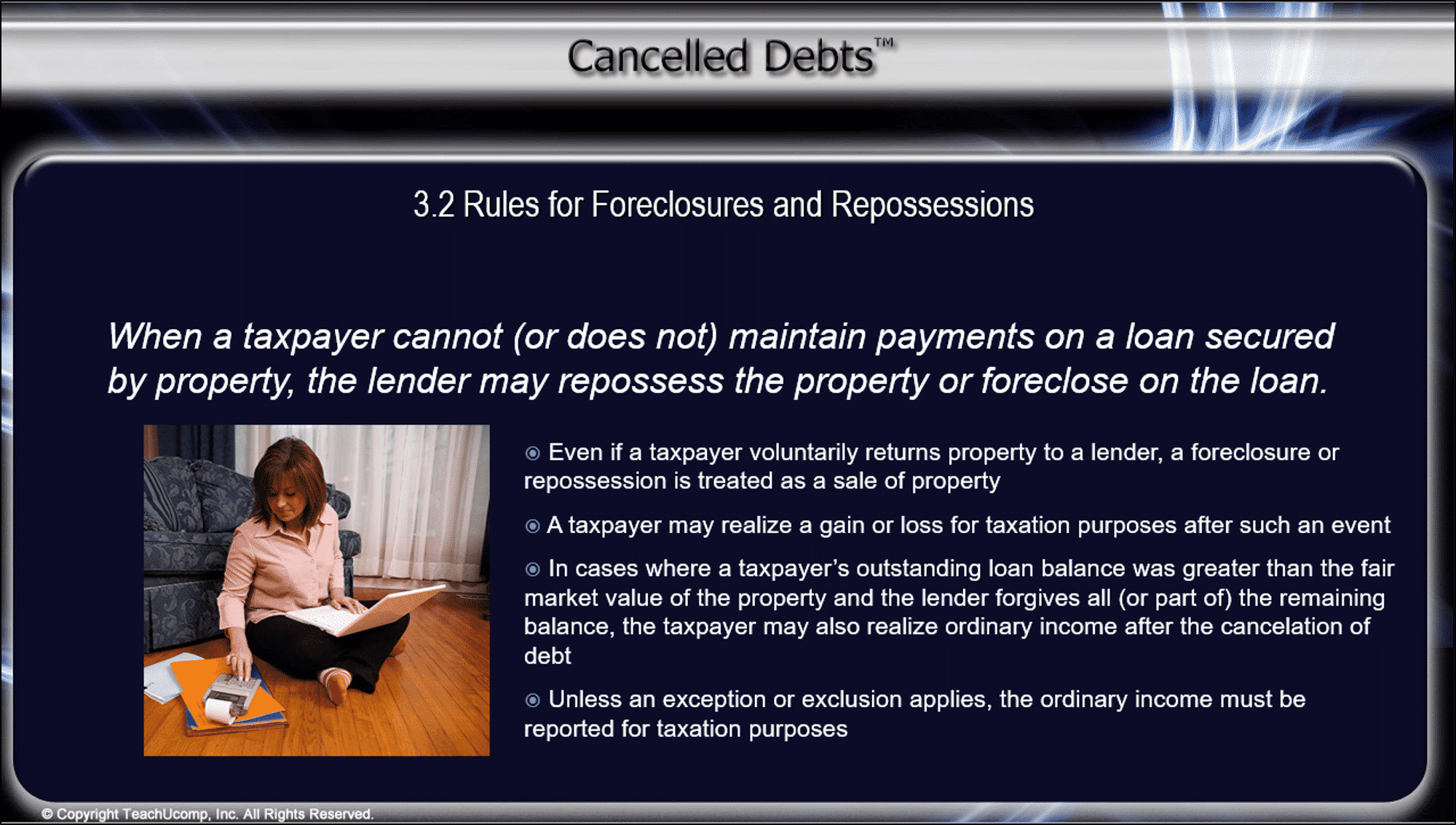 Canceled debt related to a repossession or foreclosure canceled debt related to a repossession or foreclosure tutorial a picture of a slide falaconquin