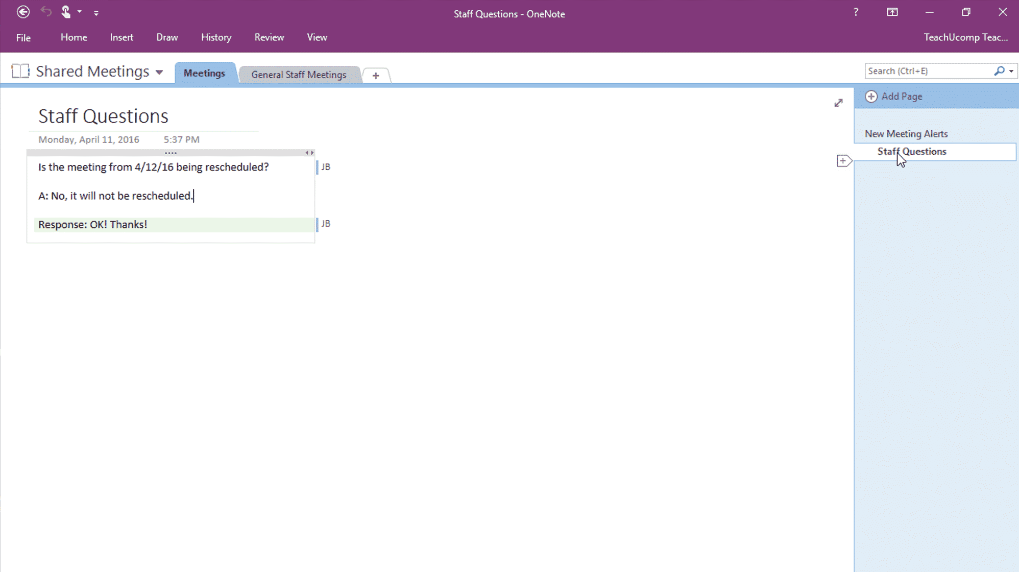 Find New Content in Shared Notebooks in OneNote - TeachUcomp