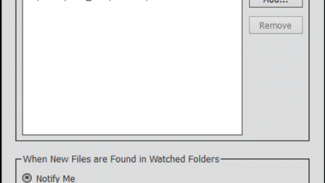 Watch Folders in Photoshop Elements - Instructions: A picture of the