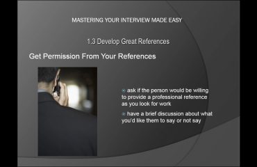 References for a Job Interview - Tutorial: A picture showing the major points from the previous paragraph.