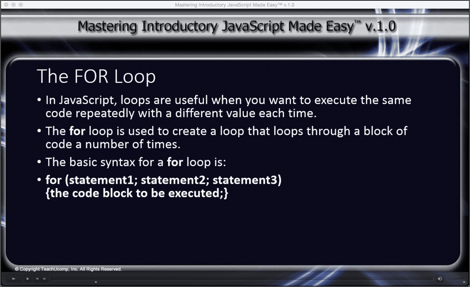 The for loop in javascript tutorial teachucomp inc the for loop in javascript tutorial a picture from baditri Images