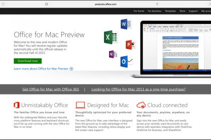 Office for Mac 2016 Preview Released: A picture of the