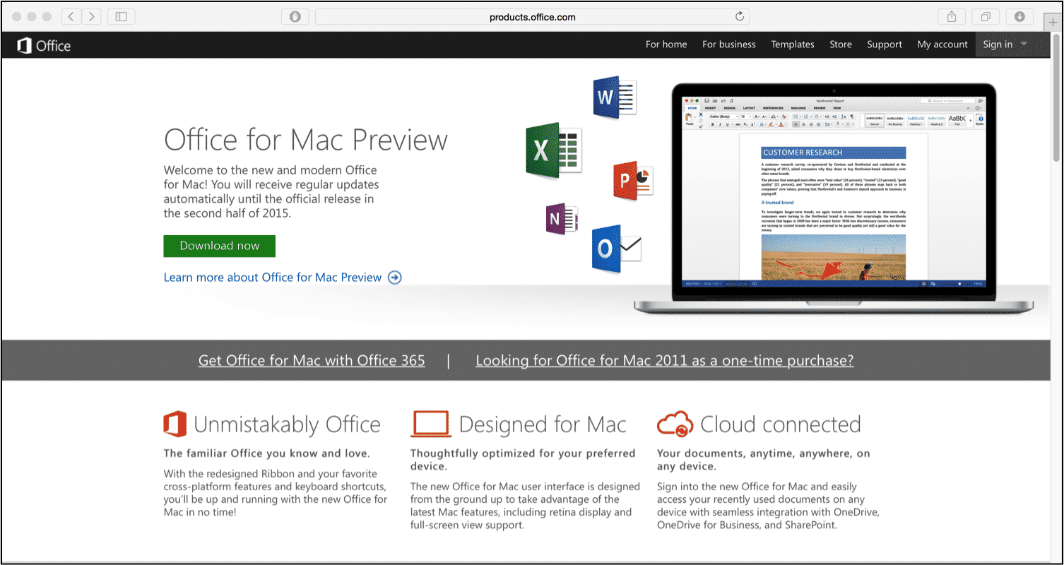 Office for Mac 2016 Preview Build Released - TeachUcomp, Inc.