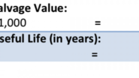 Depreciation- Small Business Accounting Tutorial: Calculating straight-line depreciation for an asset.