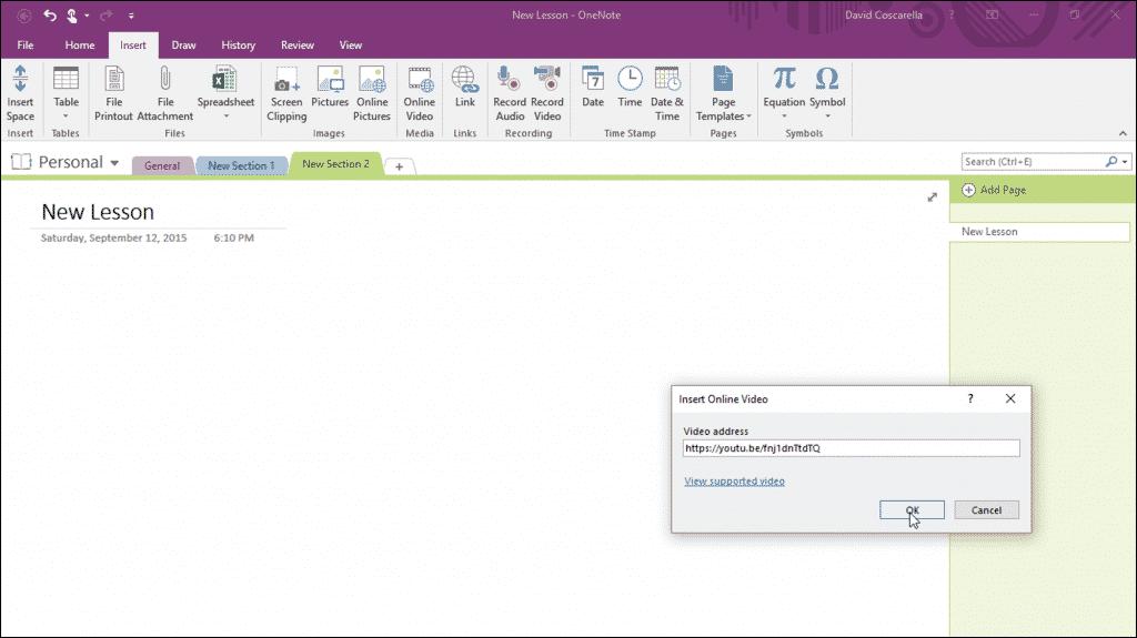 insert pdf into onenote 2016