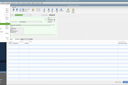 Void a Check in QuickBooks Desktop Pro - Instructions and Video Lesson: A picture of a user voiding a check in QuickBooks Desktop Pro.