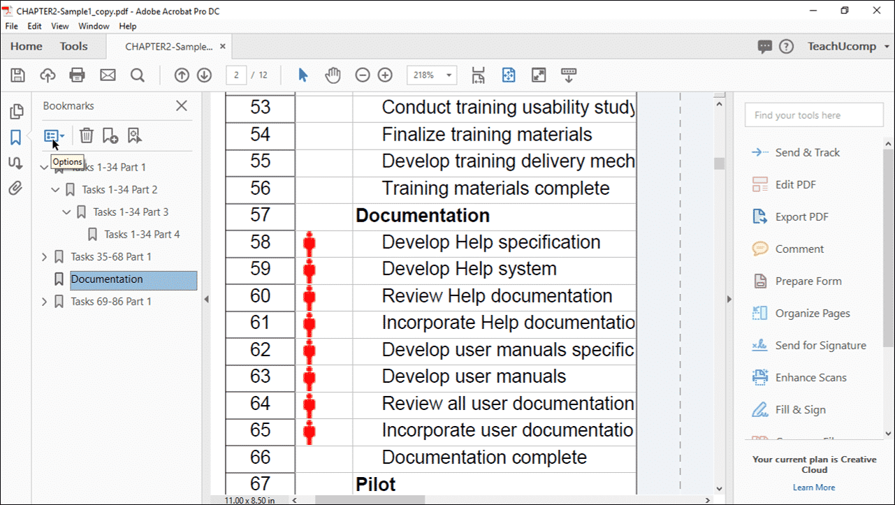 Add Bookmarks To A Pdf In Acrobat Instructions And Video Lesson