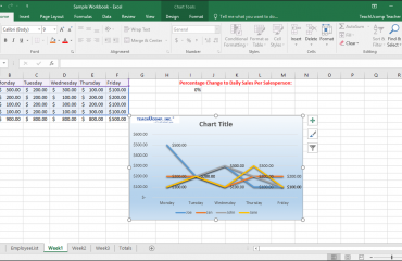 Name an Embedded Chart in Excel - Tutorial: A picture of a user naming an embedded chart by using the