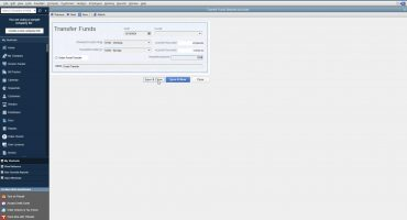 Transfer Funds in QuickBooks Desktop Pro - Instructions: A picture of a funds transfer in QuickBooks Desktop Pro.