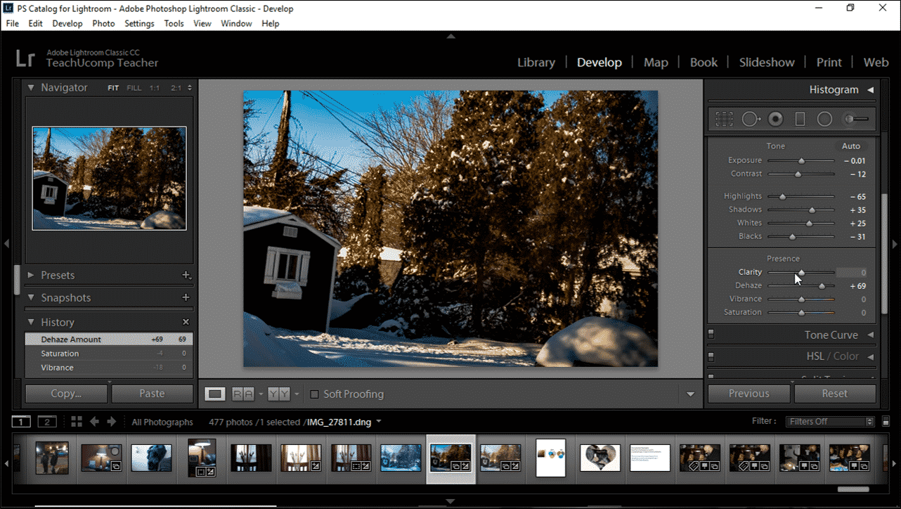 Change the Color Saturation in Lightroom Classic CC- Instructions