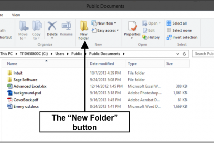 Create a New Folder in Windows 8- Tutorial