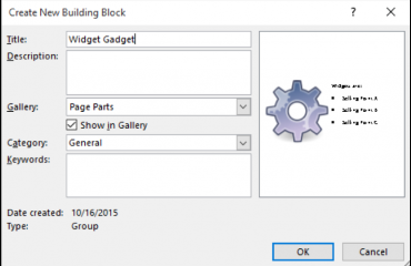 Create Building Blocks in Publisher - Tutorial: A picture of the