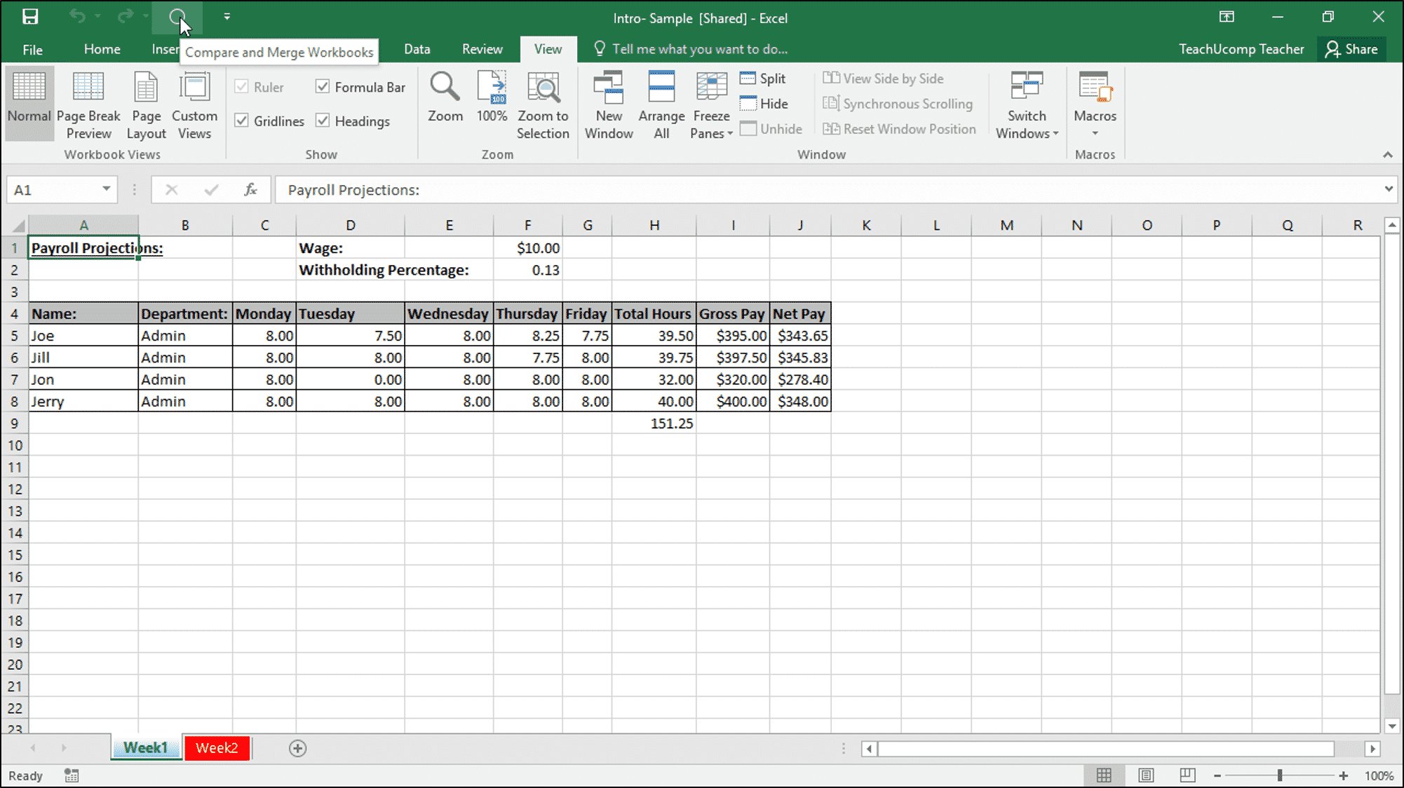 merge changes in copies of shared workbooks in excel