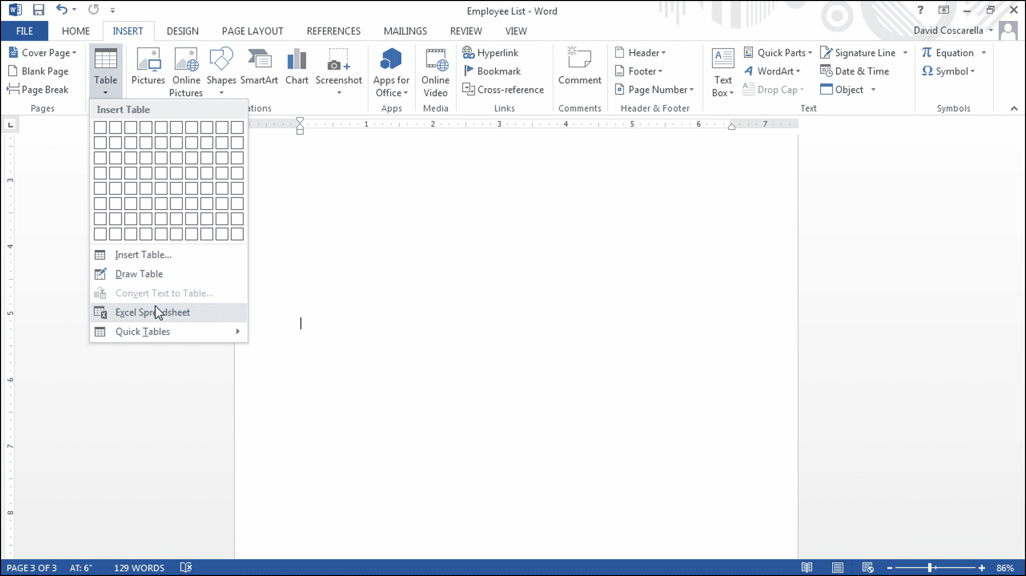insert pdf into word header