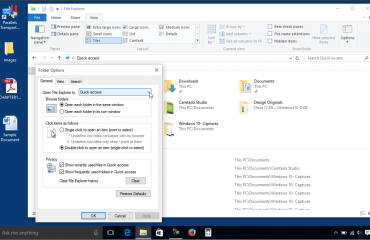 Quick Access in Windows 10 - Tutorial: A picture of the