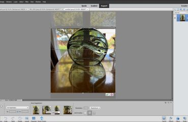 Crop Images in Photoshop Elements- Instructions: A picture of a suggested crop area applied to an image in Photoshop Elements.