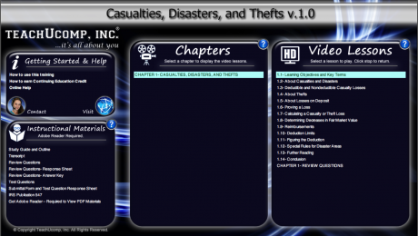 Buy Casualties, Disasters, and Thefts Training: A picture of the