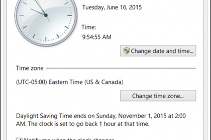 Set the Date and Time in Windows 8- Tutorial: A picture of the