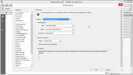 Color Management in Acrobat XI Pro - Tutorial: A picture of the