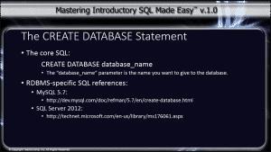 Create database statement tutorial teachucomp inc for Adobe mission statement