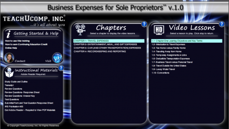 Buy Business Expenses for Sole Proprietors Training: A picture of the