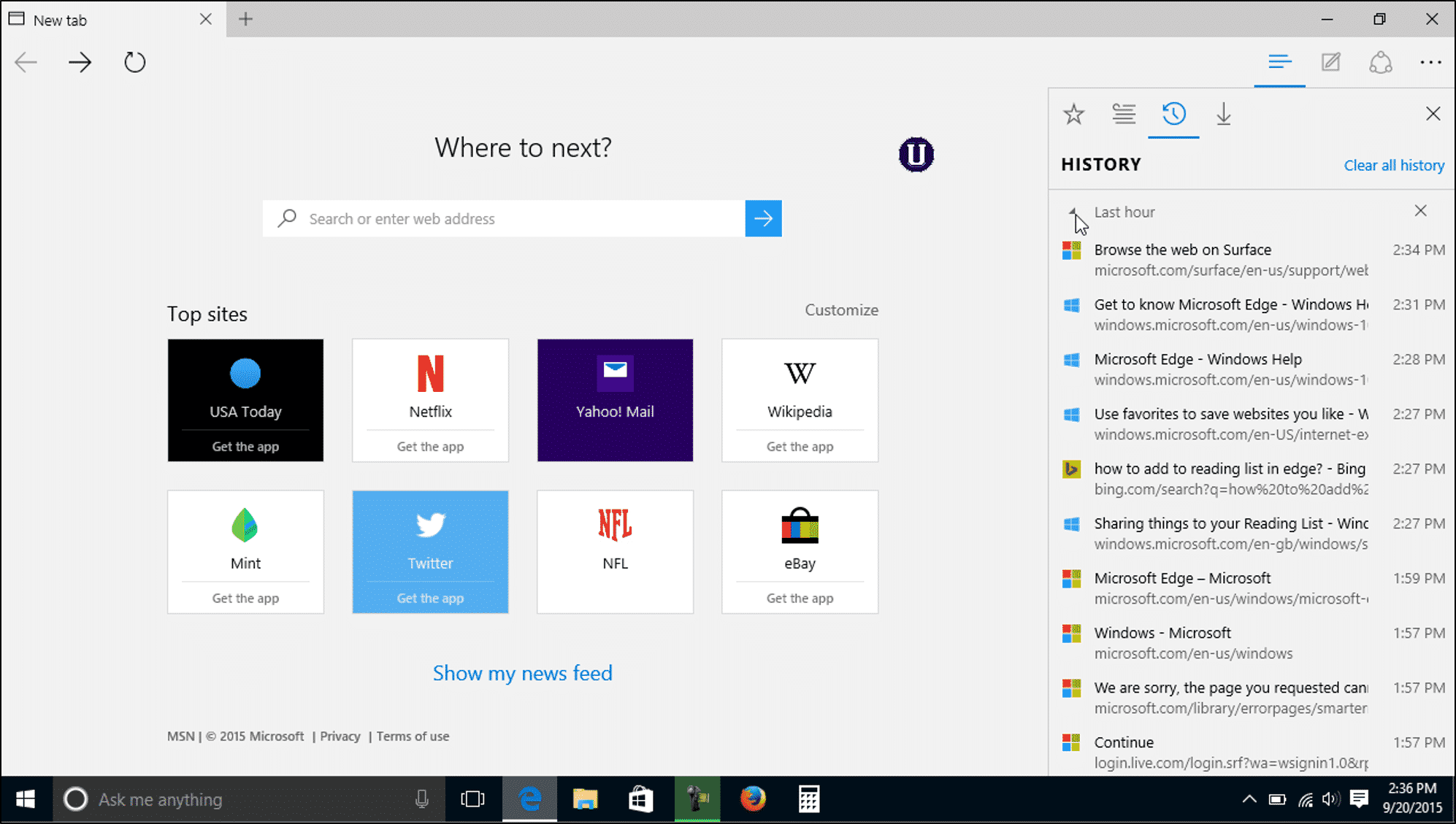 microsoft edge operating systems