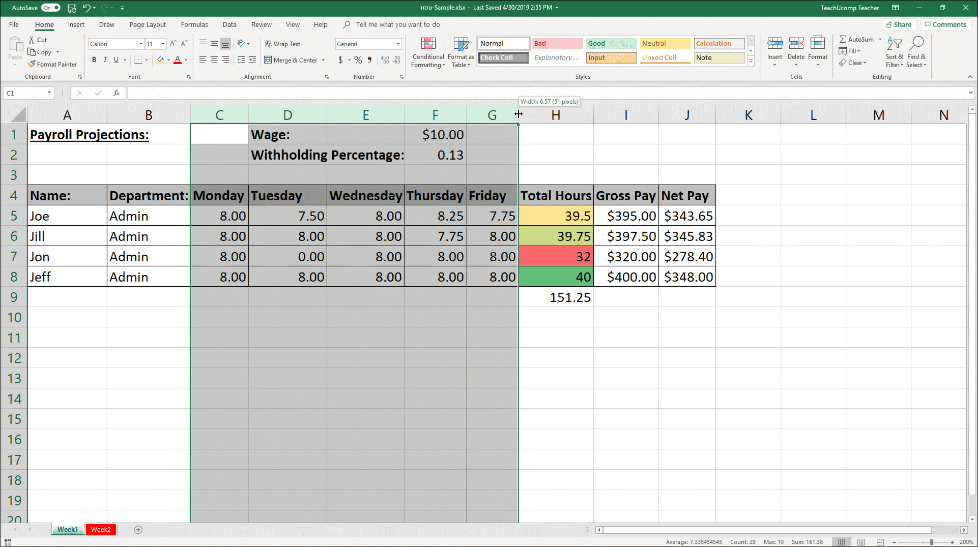 Resize Columns and Rows in Excel   Instructions and Video Lesson