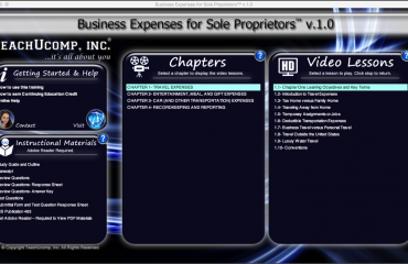 Meal Expenses- Business Expenses for Sole Proprietors: A picture of the