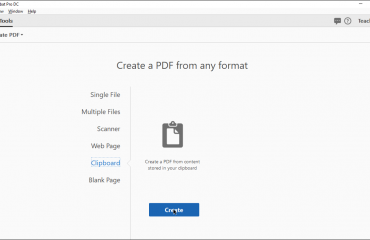 Create a PDF from Clipboard Content in Acrobat Pro DC - Instructions: A picture of a user creating a PDF from Clipboard content in Acrobat Pro DC.