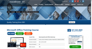 """A picture of the web page for """"Mastering Microsoft Office Made Easy v.2013-2007"""" which contains the same training, regardless of whether you use Microsoft Office 365 vs. Microsoft office 2013."""