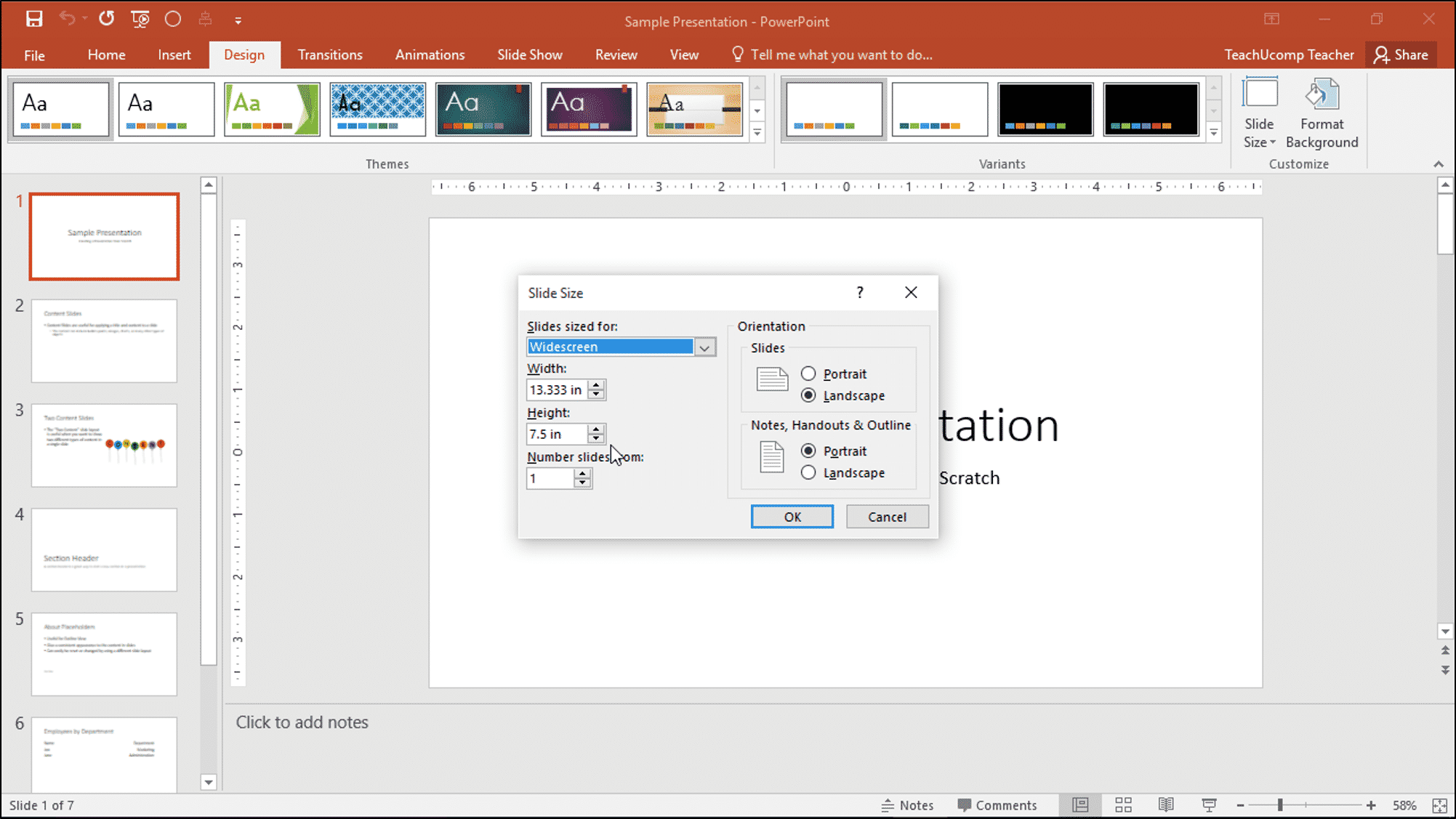 Change the Size of Slides in PowerPoint - Instructions