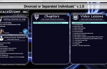 Buy Divorced or Separated Individuals Training: A picture of the training interface for the