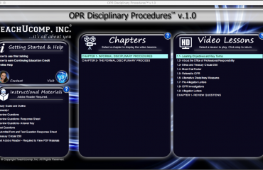 Buy OPR Disciplinary Procedures Training: A picture of the user interface for the