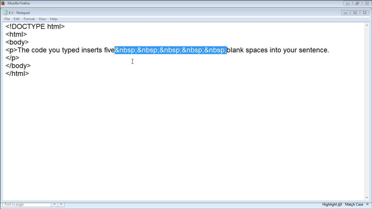 Add Space in HTML   Instructions   TeachUcomp, Inc.
