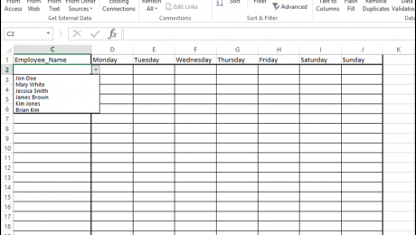 A picture of Step #10 in How to Add a Drop Down List in Excel.