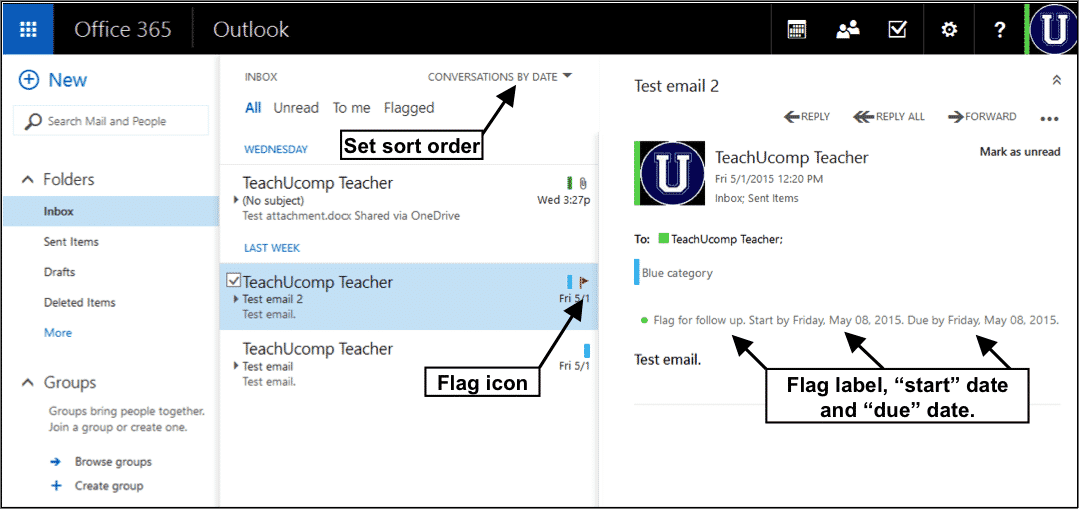 Flag Email in Outlook Web App- Tutorial