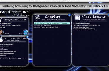 CPE for CPAs: A picture of the interface for the course