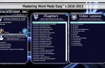 Buy Word 2016 Training: A picture of the user interface for the DVD or digital download versions of