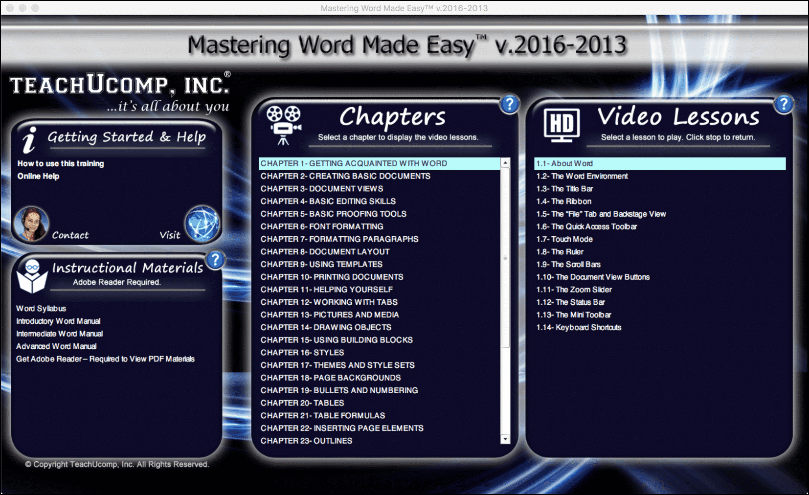 Buy Word 2016 Training: A Picture Of The User Interface For The DVD Or  Digital