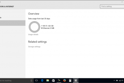 View Data Usage in Windows 10 - Tutorial: A picture of the