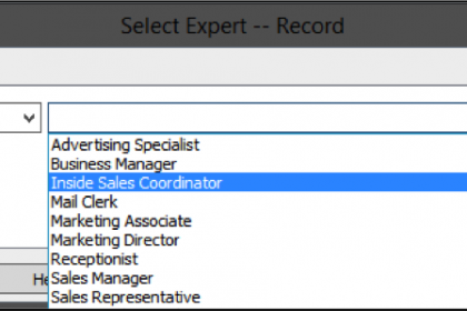 Selecting records by using comparison criteria for filtering data fields in the