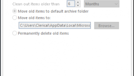 AutoArchive in Outlook- Tutorial with Video: A picture of the