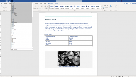 Using Undo and Redo in Word- Instructions: A picture of a user undoing previous actions in Word.