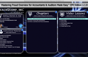 A picture of the fraud overview for accountants and auditors training interface titled