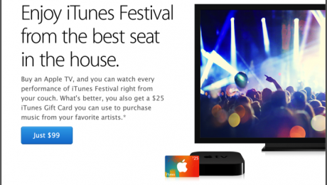$25 iTunes Gift Card Promotion with Purchase of Apple TV- August and September 2014.