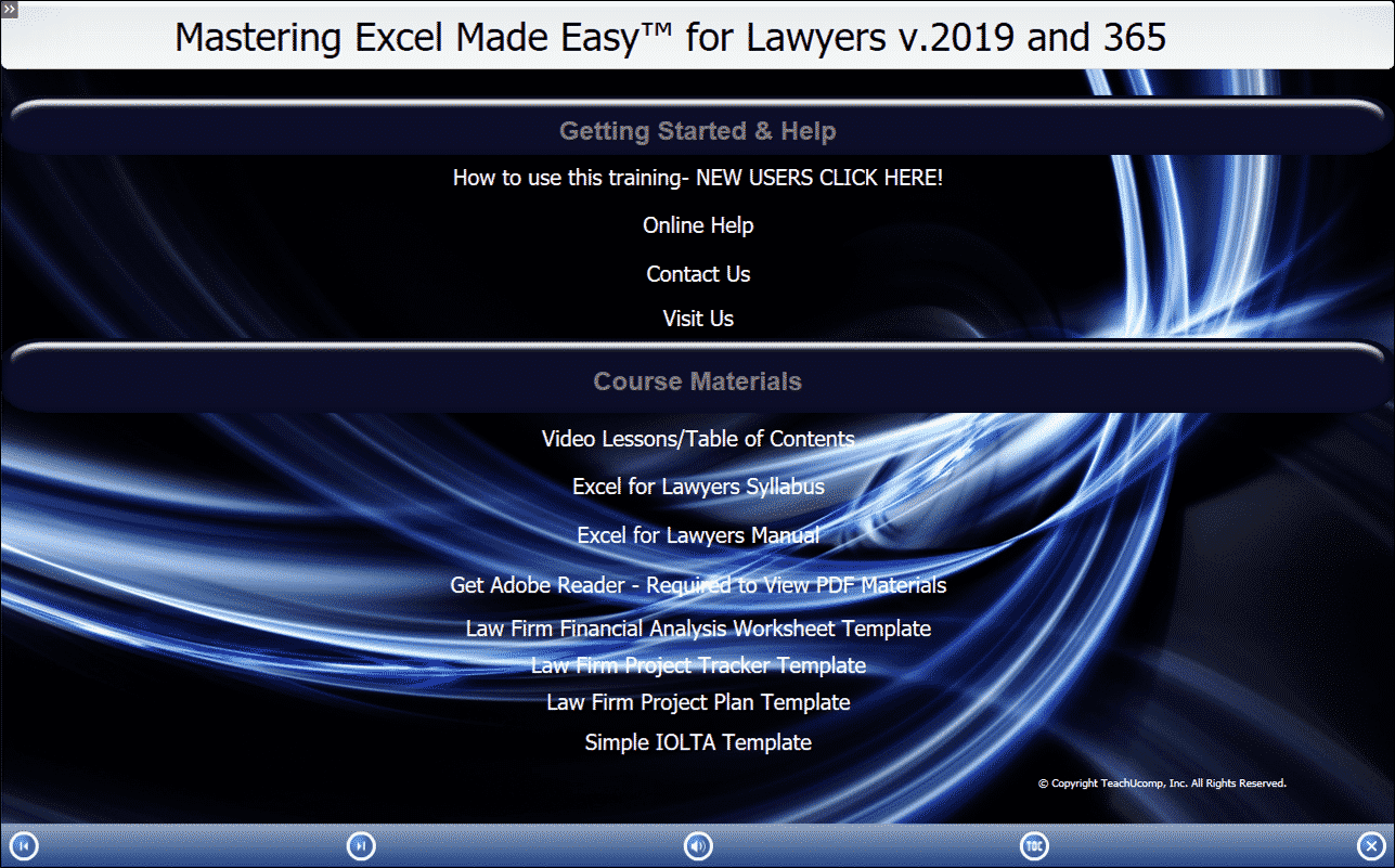 Buy Excel 2019 and 365 Training for Lawyers - TeachUcomp, Inc