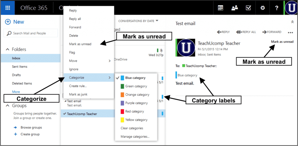 Mark Messages as Read or Unread in the Outlook Web App
