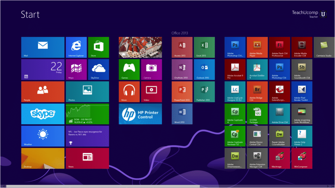 """Windows 9 """"Threshold"""" Unveiled in September or October 2014: A picture of the existing Windows 8.1 operating system that will be replaced by the new operating system, currently codenamed """"Threshold."""""""