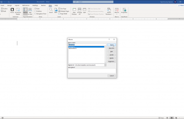 """Run a Macro in Word- Instructions: A picture of the """"Macros"""" dialog box in Microsoft Word."""