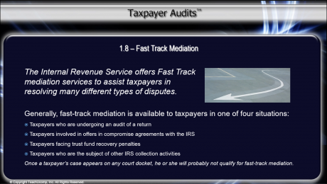 IRS Fast Track Mediation - Tutorial: A picture from the